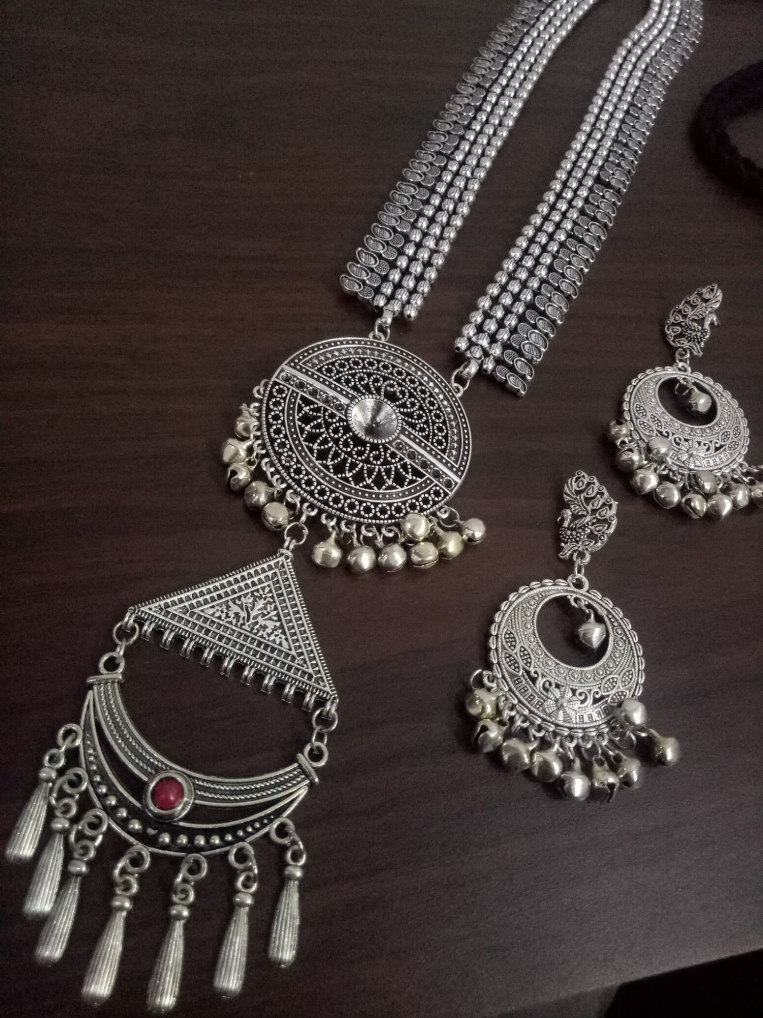 Traditional Partywear Heavy Ball Chain Neckalce Set