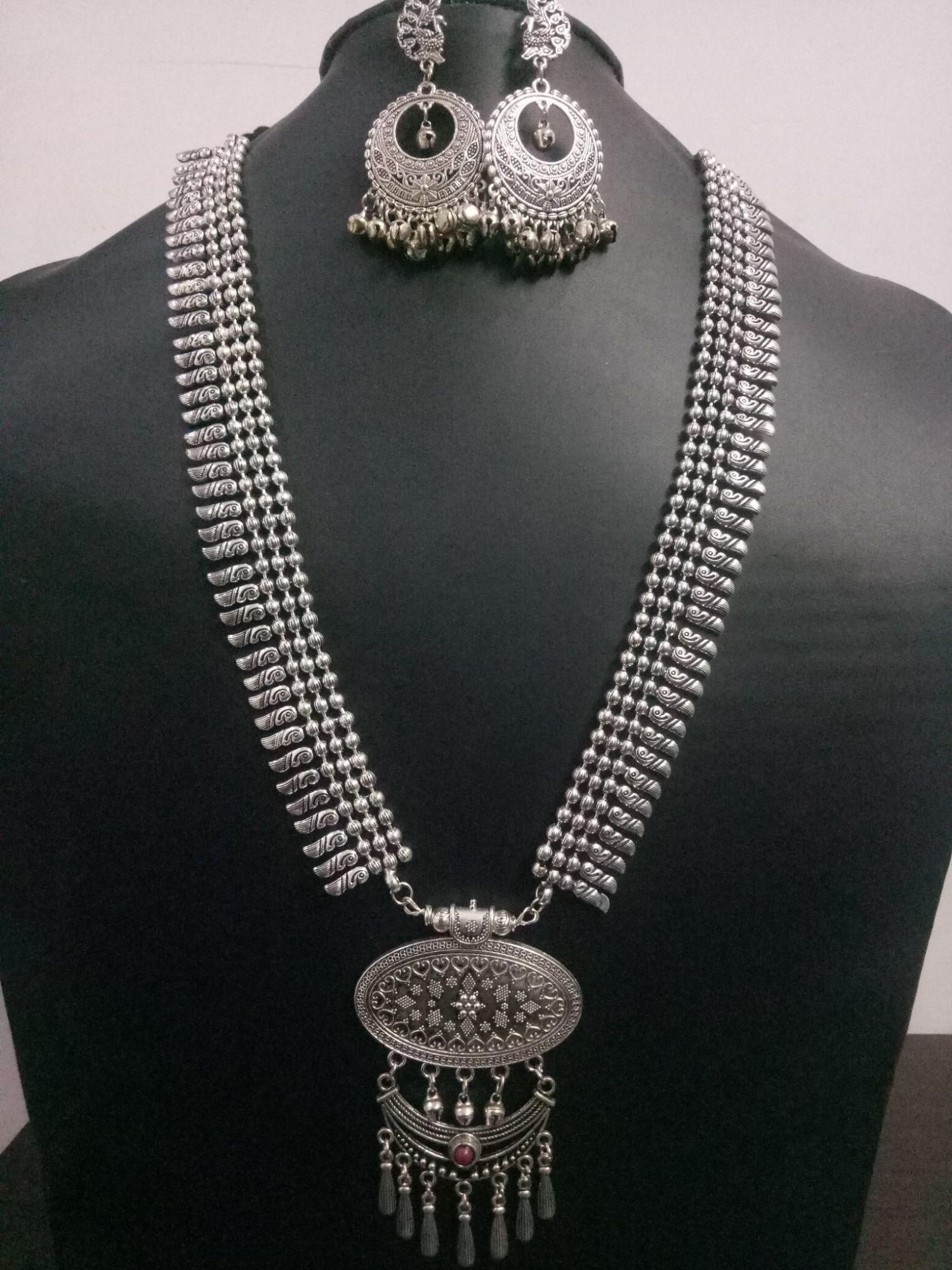 Beautiful Ball Chain Long Necklace Set