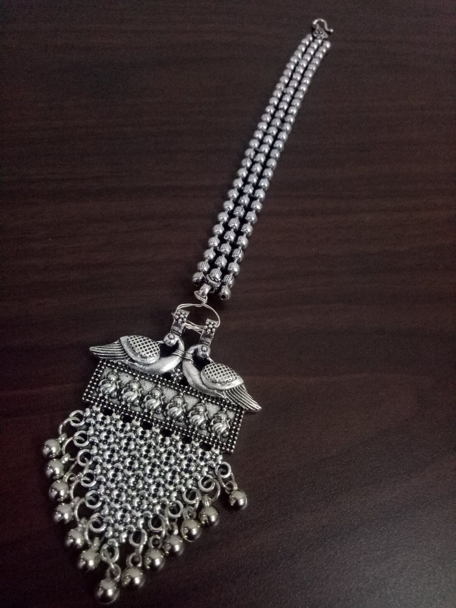 Trendy Bahubali Designed Ball Chain Maangtikka