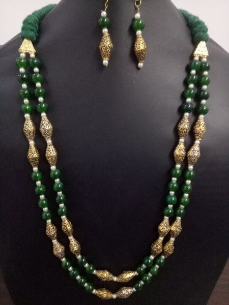 Beautiful Antique Beaded Jaipuri Mala Set