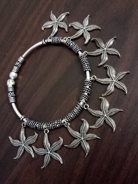 Beautiful Oxidised Charms Kada