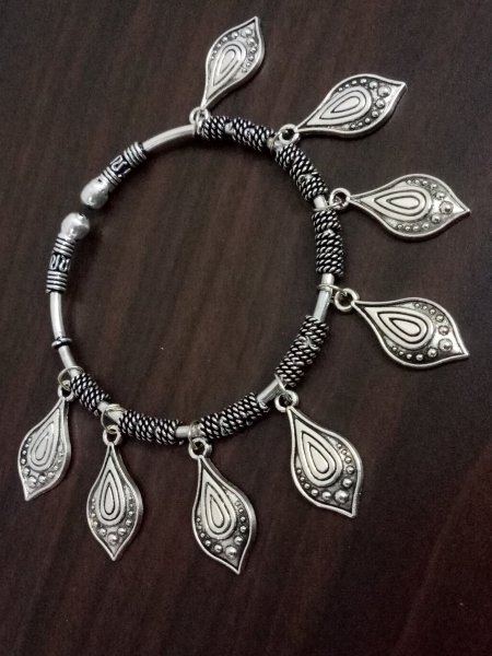 Stylish Oxidised Charms Kada