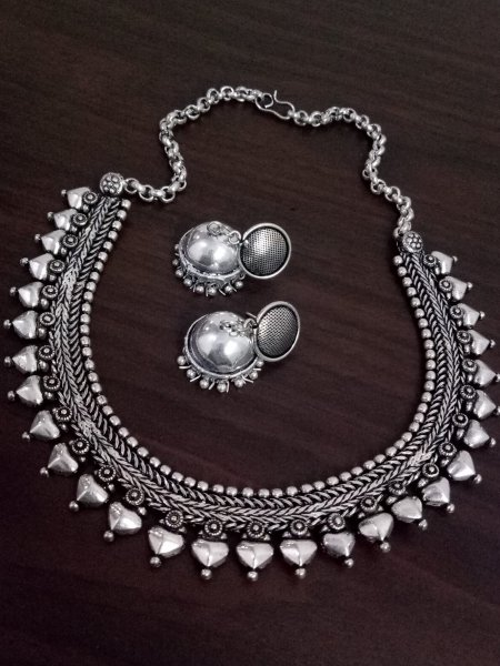 Exclusive Oxidised Matt Finish Kolhapuri Necklace Set