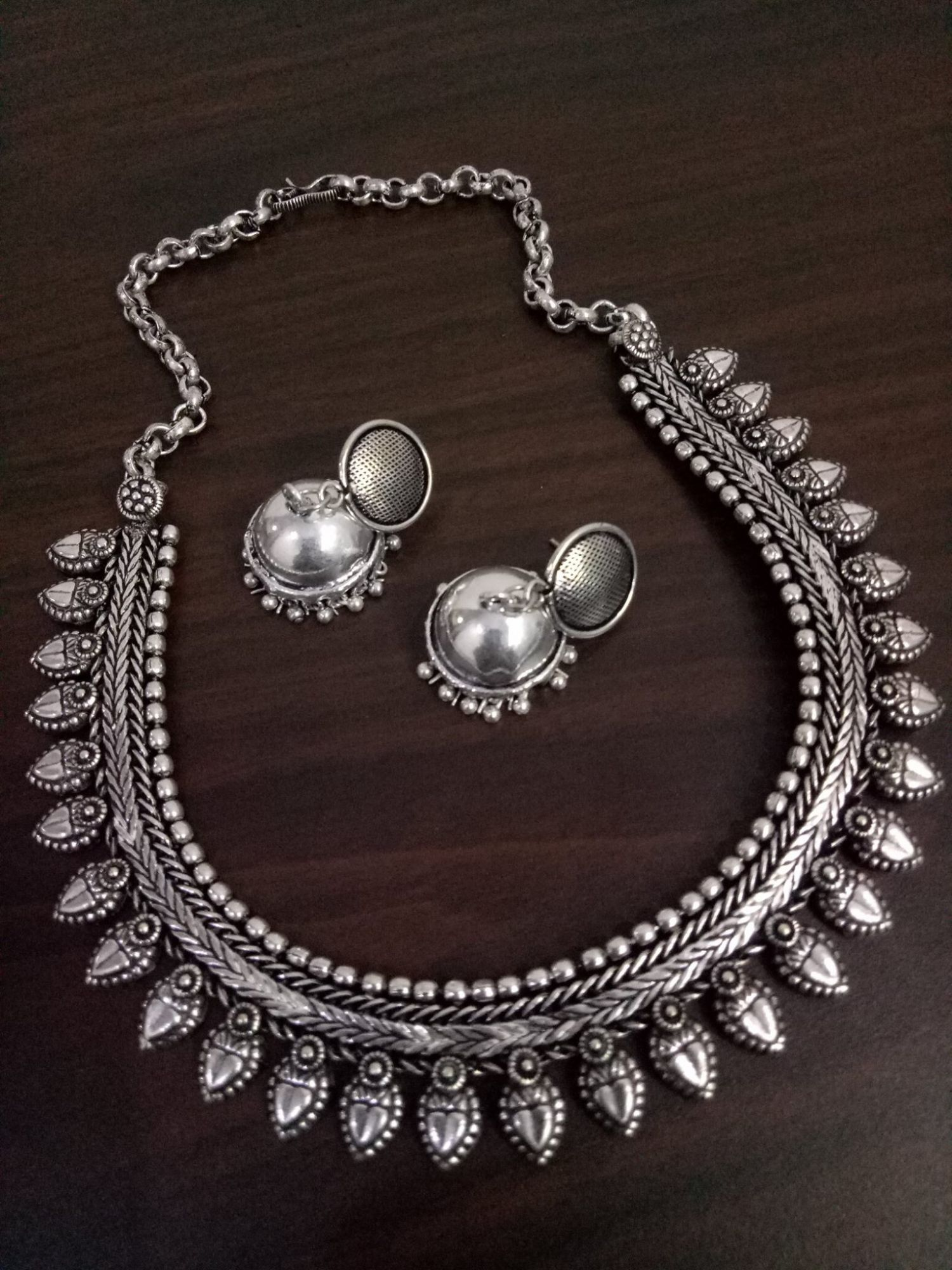 Partywear Matt Finish Kolhapuri Neckalace Set