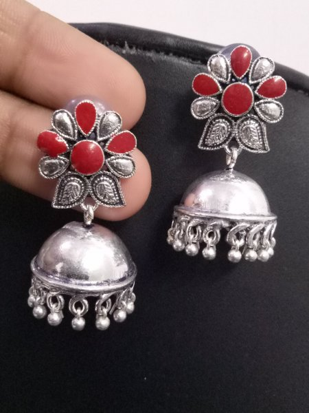 Beautiful Handmade Enamelled Jhumka