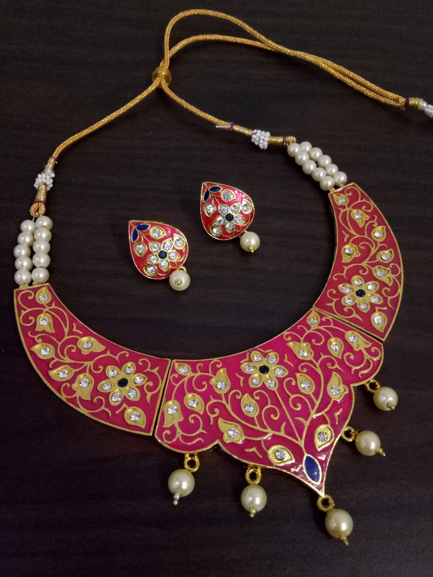 Exclusive Meenakari Jadau Hasli Set