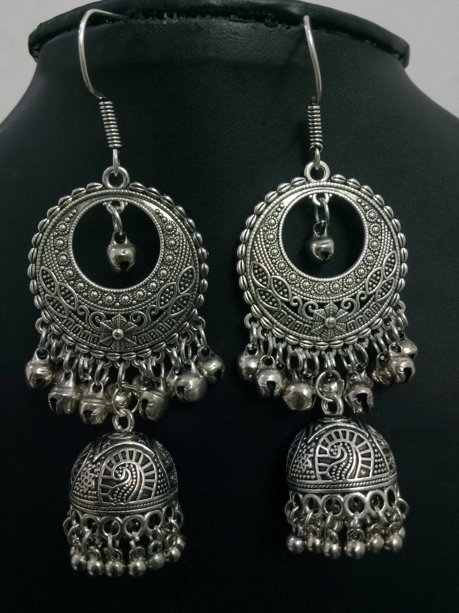 Cocktail Oxidised Big Jhumka