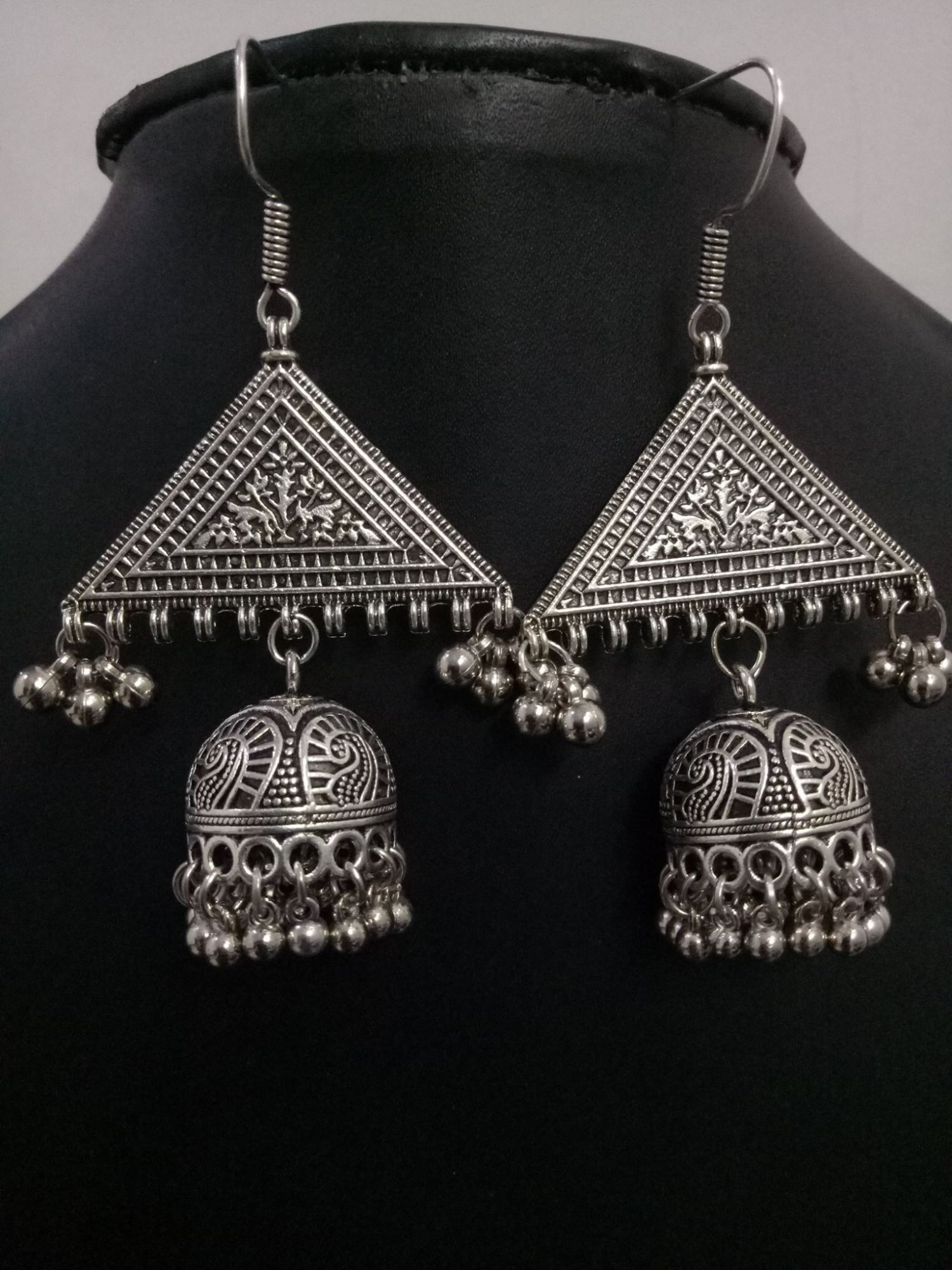 Tribal Oxidised Handicrafted Big Jhumka