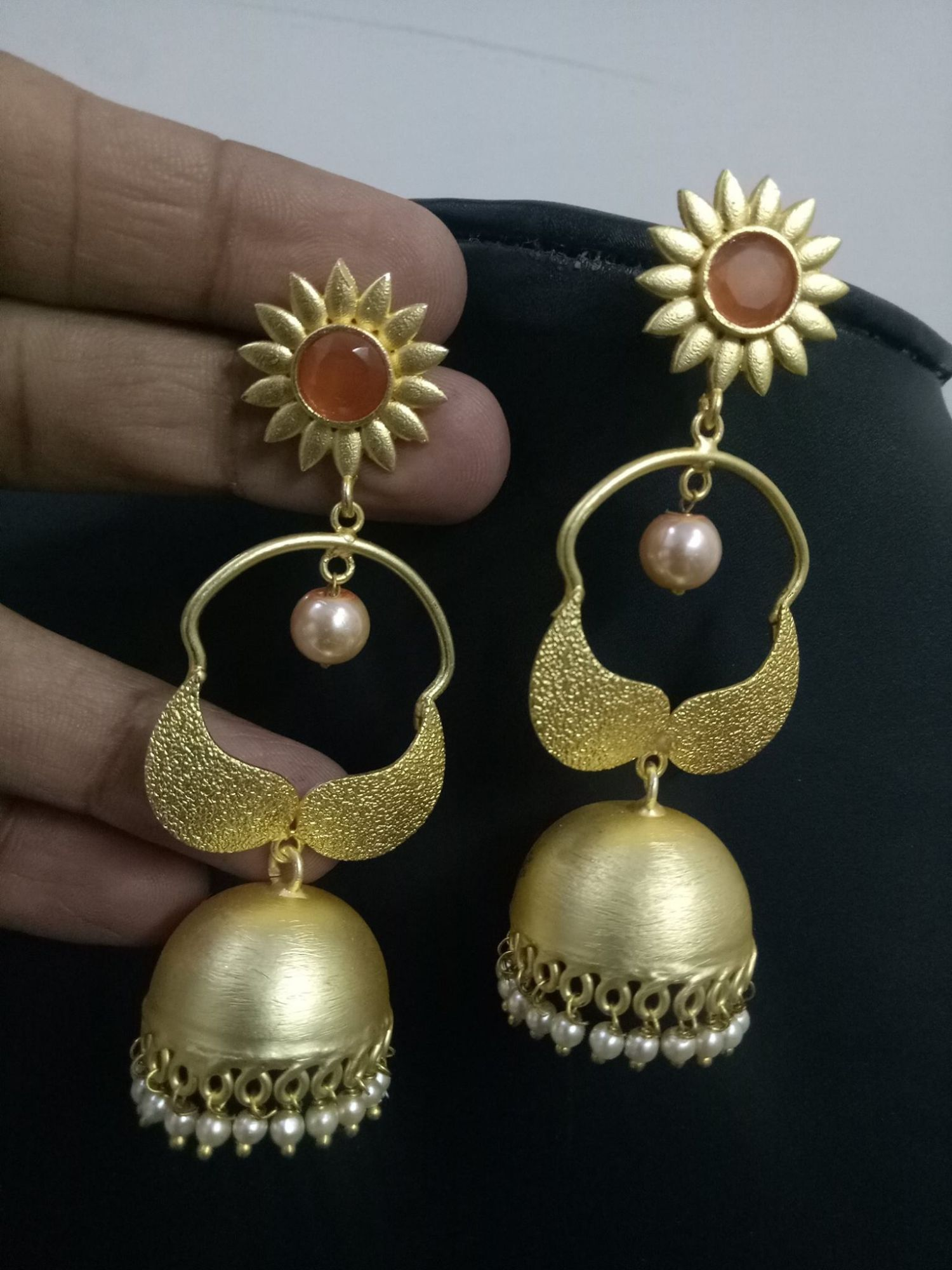 Trendy Gold Plated Jaipuri Jhumka
