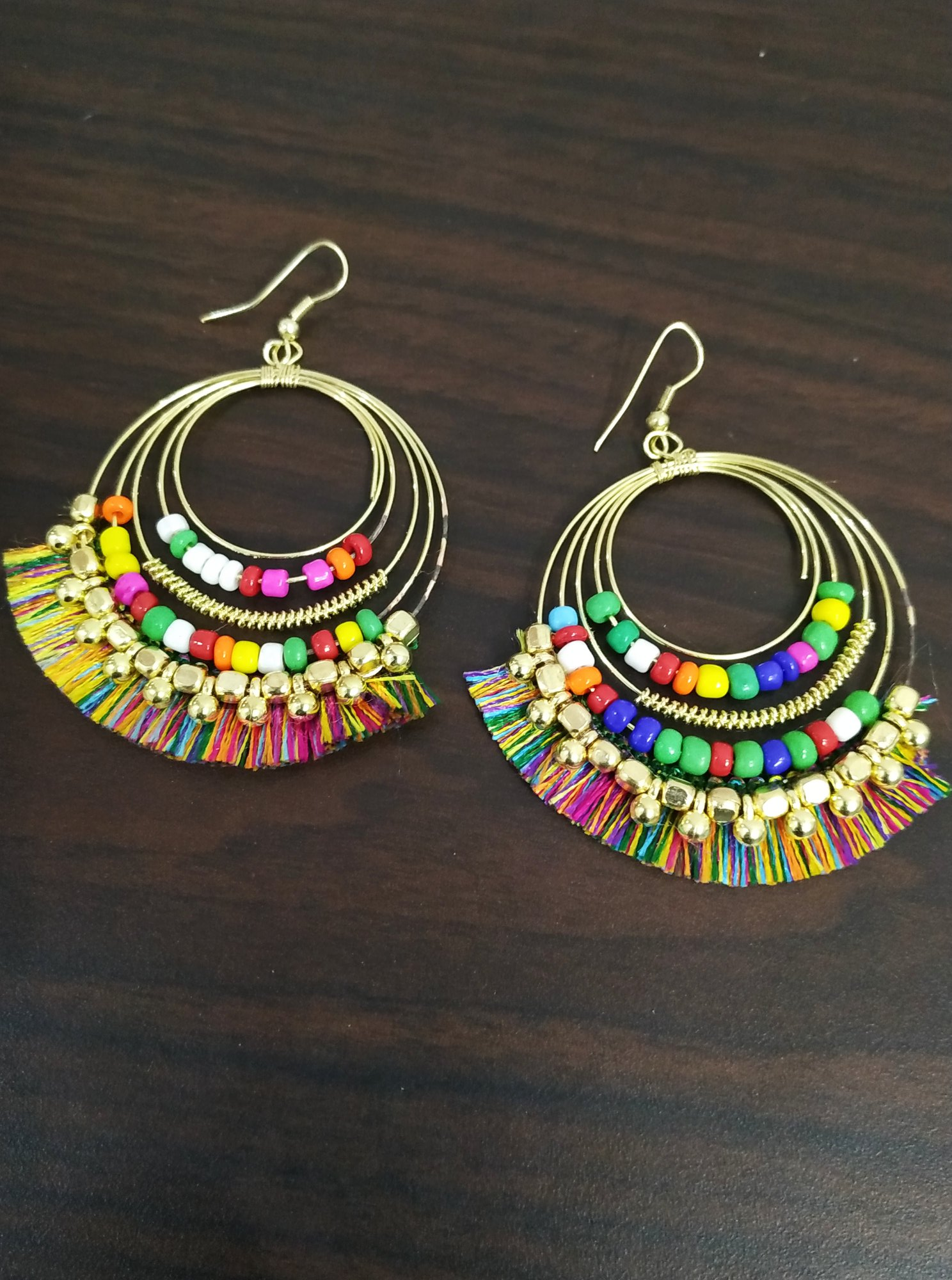 Attractive Fashion Bali Beaded Earrings