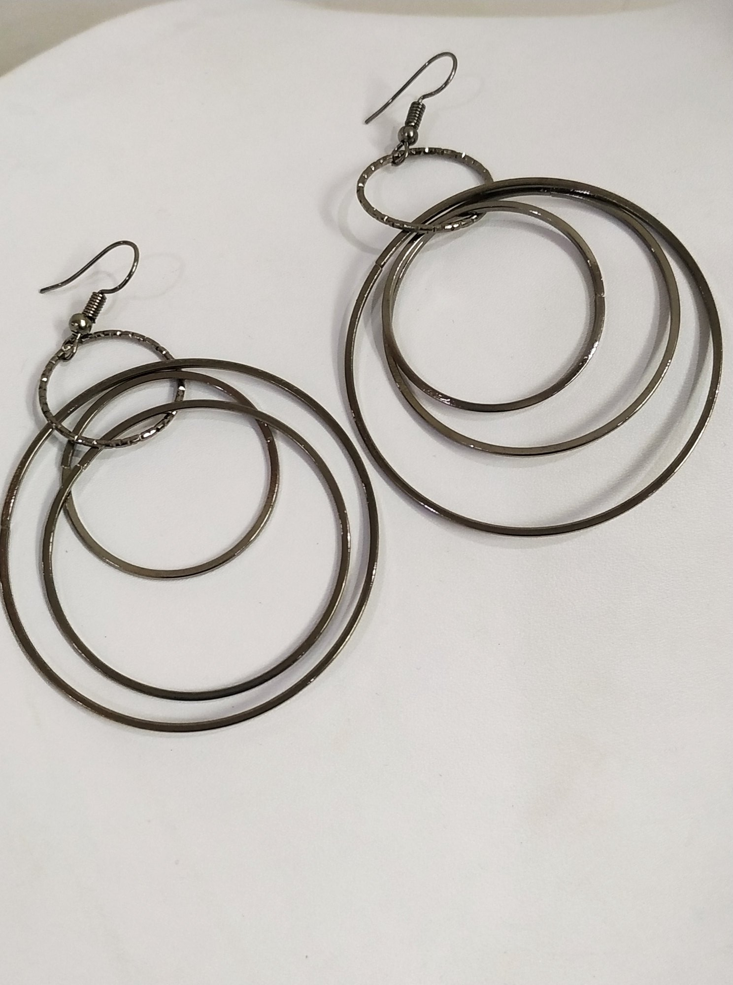 Beautiful Black Circle Big Earrings