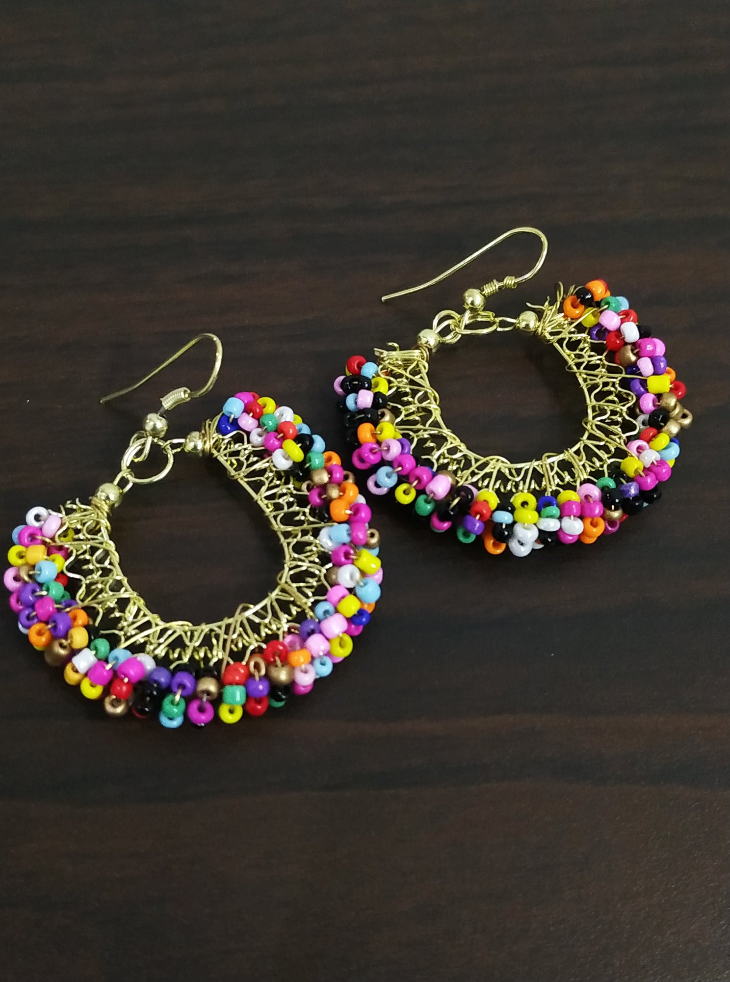 Dazzling Multicolored Golden Beaded Bali
