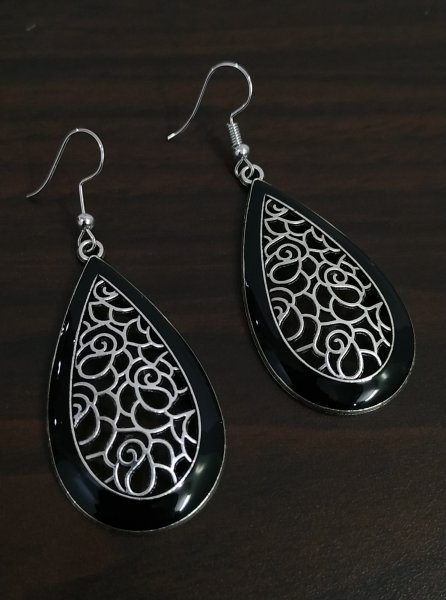 Delightful Enamelled Earrings