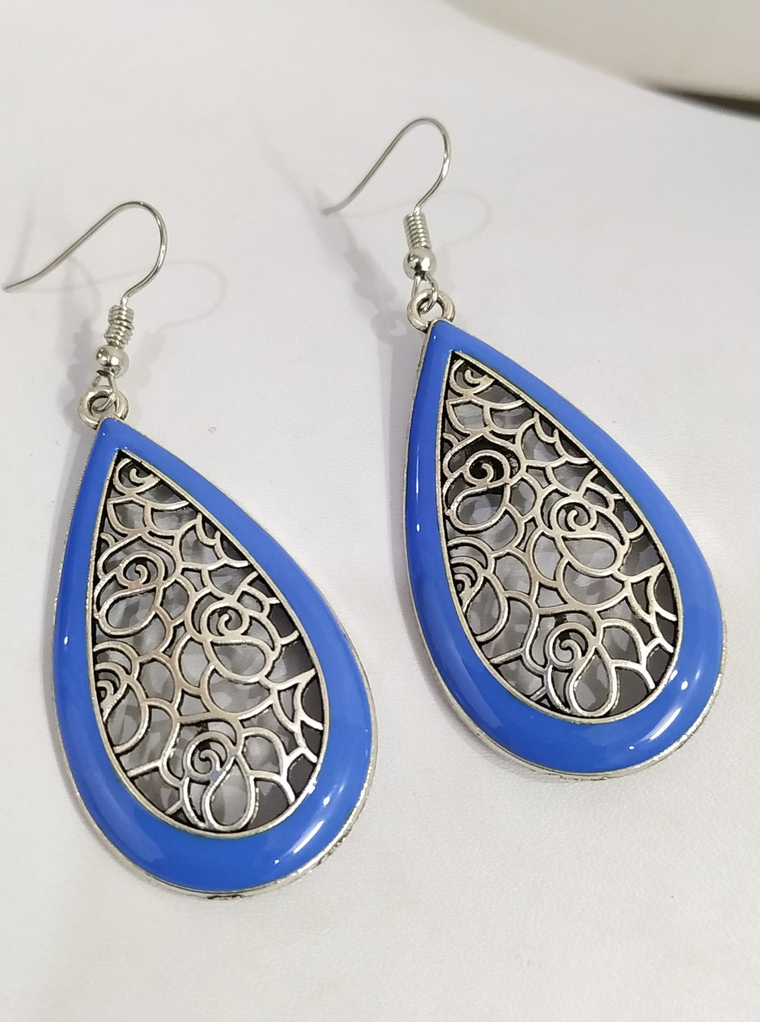 Exceptionally Beautiful Enamelled Danglers