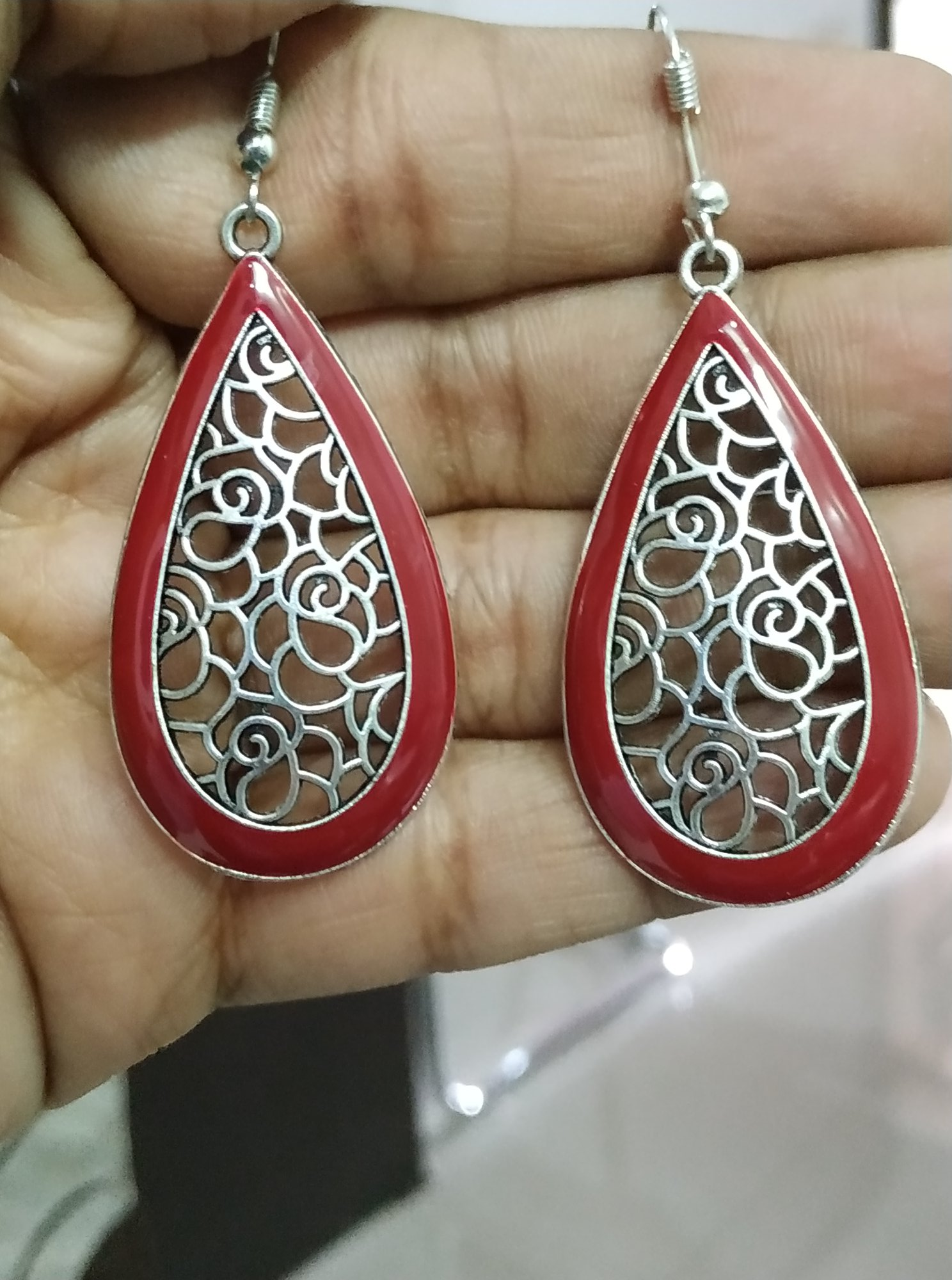 Fascinating Enamelled Earrings