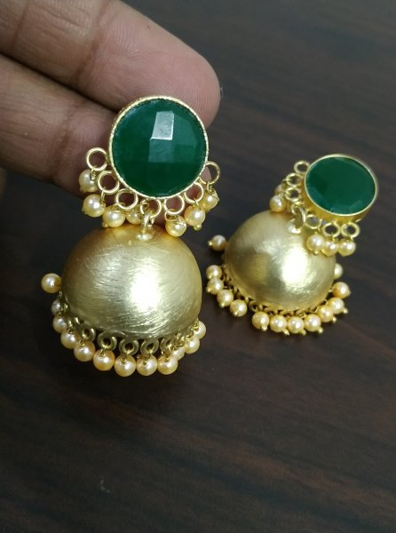Beautiful Rose Gold Jaipuri Jhumka