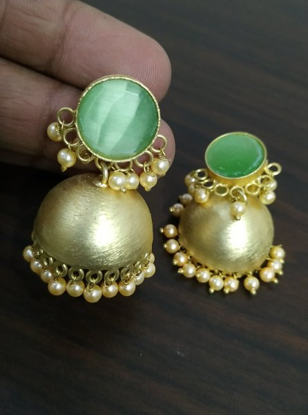 Trendy Golden Stone Matt Jhumka