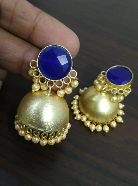 Glorious Stone Studd Golden Jhumka