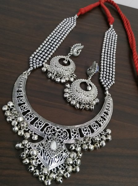 Ravishing Ball Chain Hasli Necklace Set