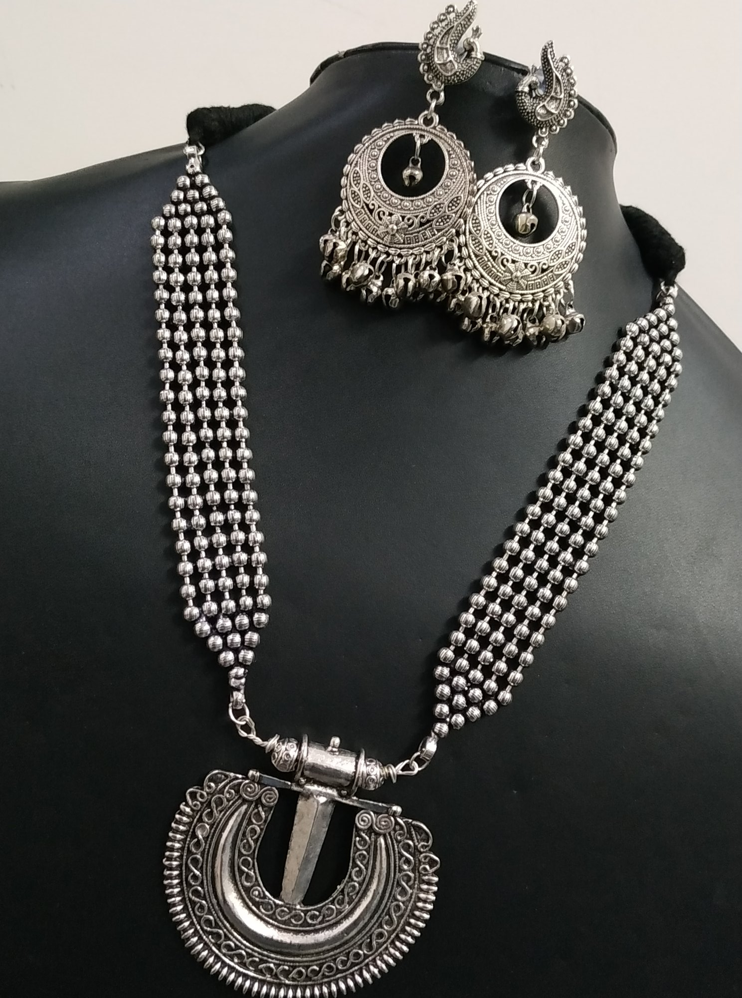 Dazzling Cocktail Heavy Ball Chain Neckalace Set