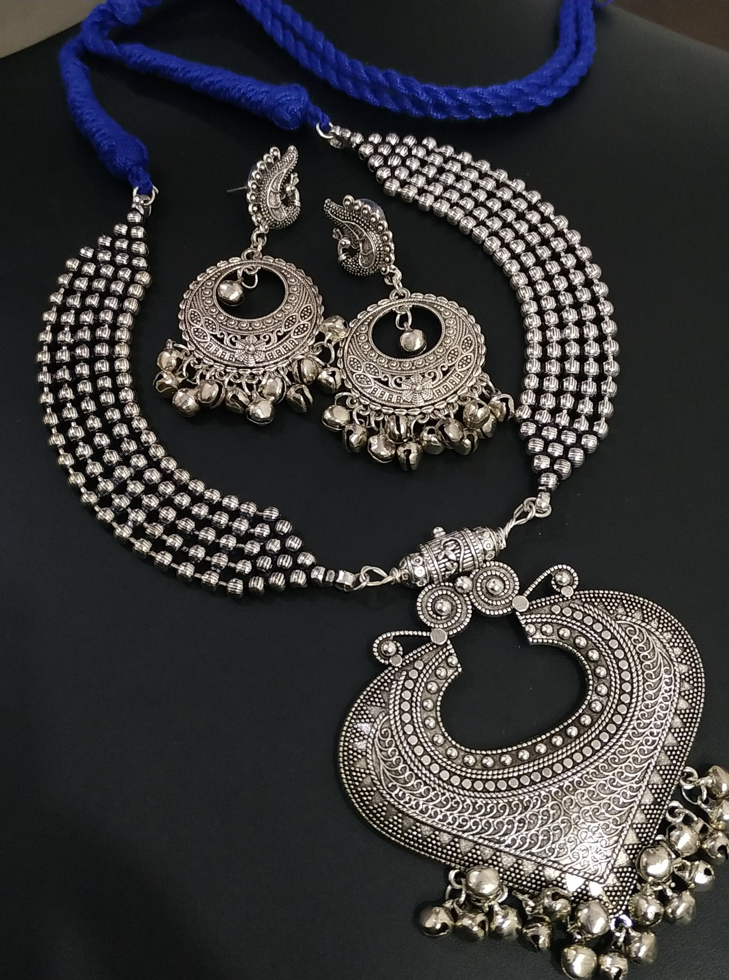 Attractive Banjara Style Oxidised Necklace Set