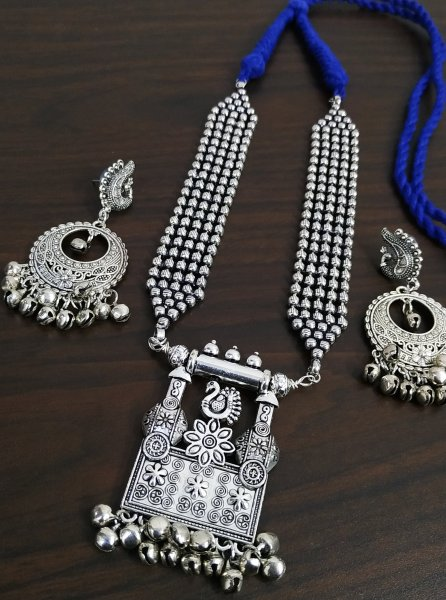Beautifully Designed Oxidised Banjara Ethnic Necklace Set