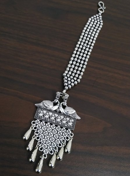 Fabulous Ball Chain Oxidised Maangtikka