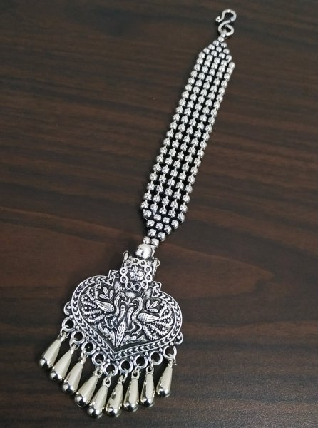 Antique Ball Chain Maangtikka