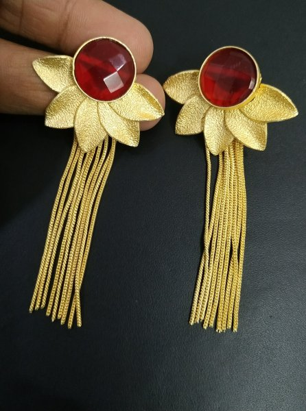 Beautiful Flower Long Earrings