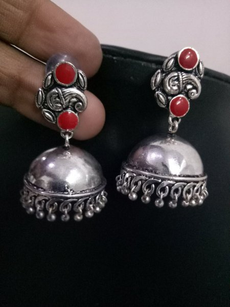 Beautiful Ganesha Enamelled Jhumka