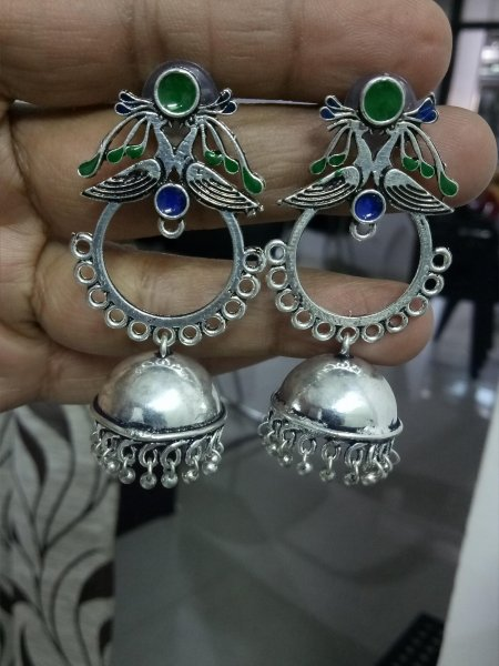 Ravishing Ethnic Enamelled Jhumka