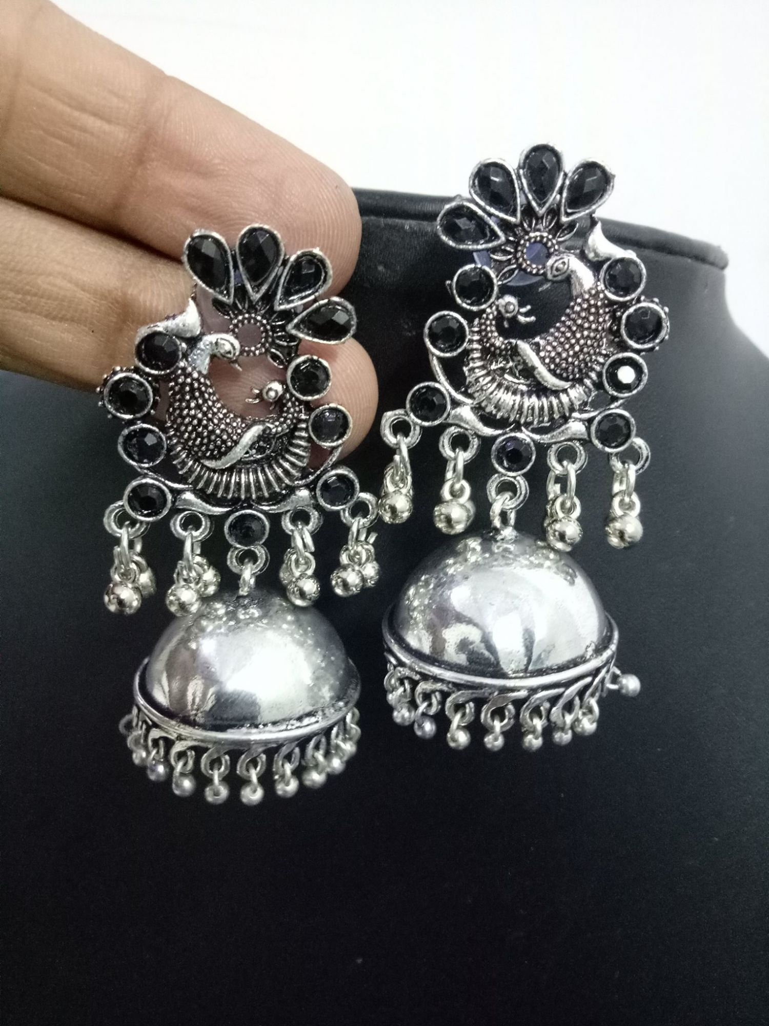 Beautiful Peacock Jhumka