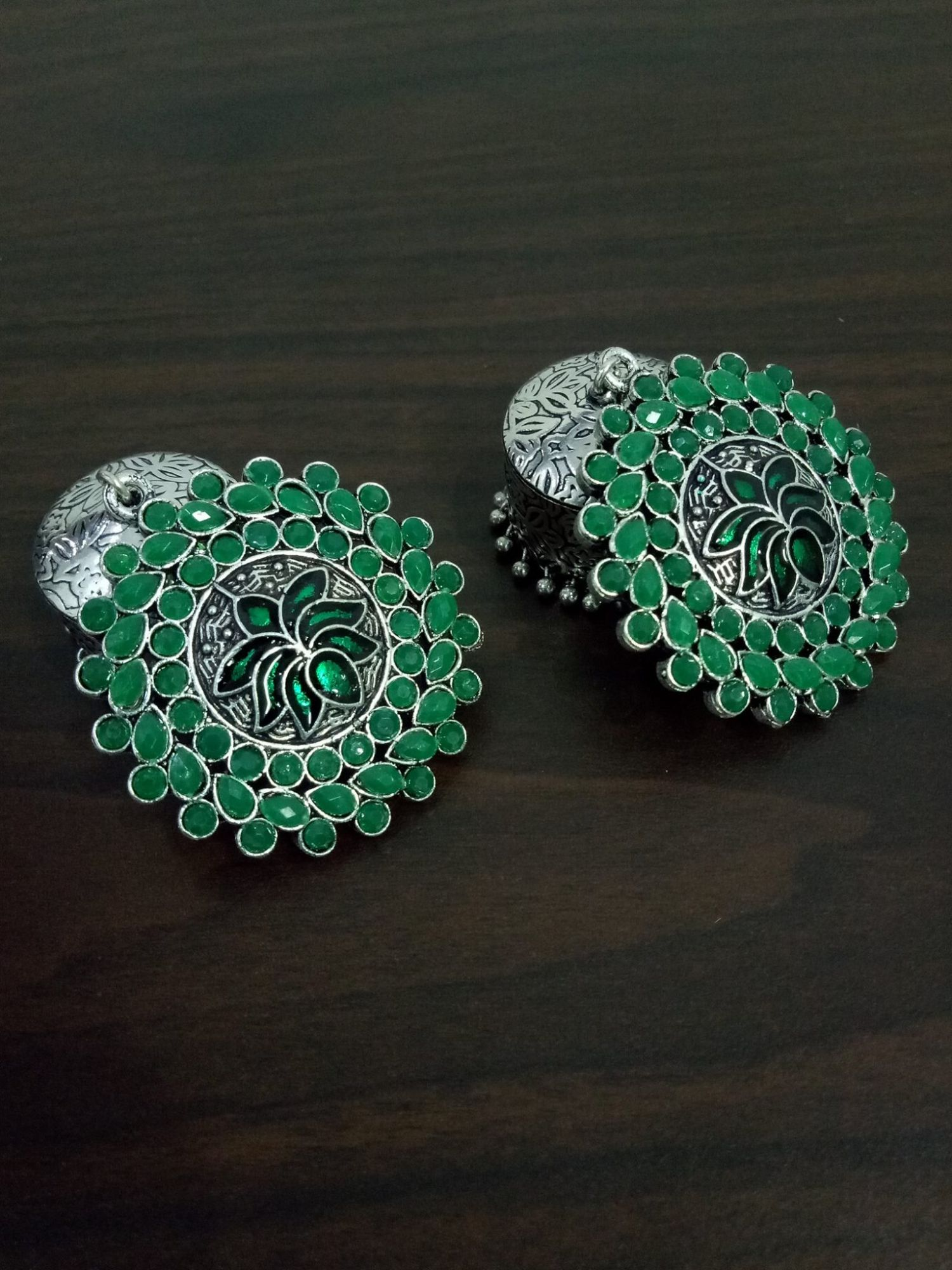Exclusive Enamelled Lotus Trendy Jhumka