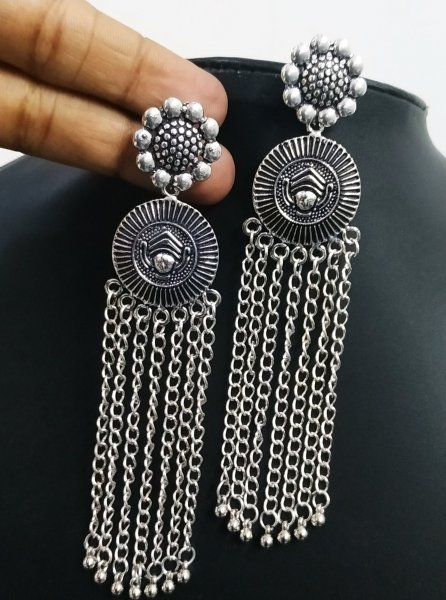 Lovely Long Partywear temple Earrings