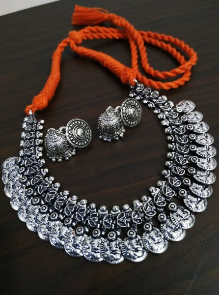 Likable Oxidised Necklace Set