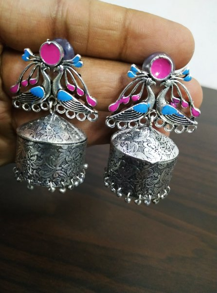 Glorious Handmade Peacock Jhumka
