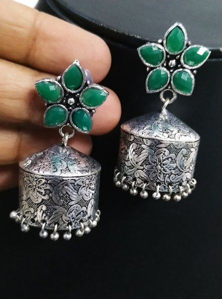 Pretty Chic Oxidised Jhumka