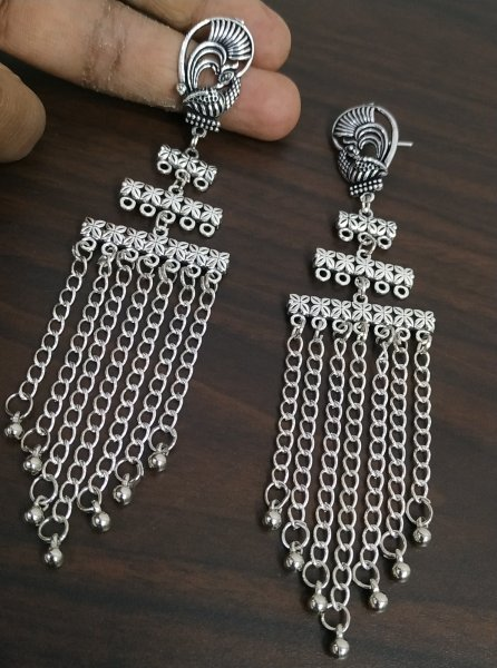 Elegant Long Chain Step Earrings