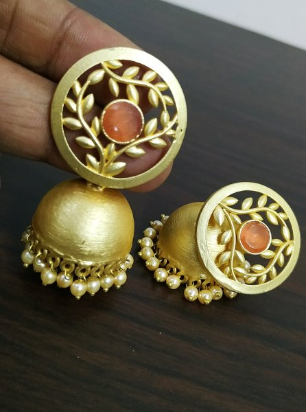 Glorious Golden Studd Jhumka