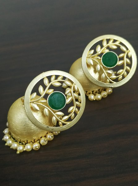 Extremely Pretty Jaipuri Rose Gold Jhumka