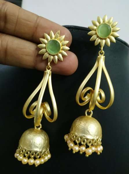 Royal Partywear Golden Jhumka